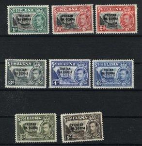 Tristan de Cunha  # 2-8   Mint NH VF 1952 PD