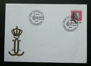 Luxembourg Grand 2000 Music (stamp FDC) *clean
