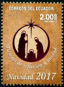 HERRICKSTAMP NEW ISSUES ECUADOR Christmas 2017