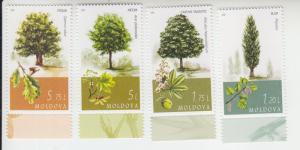 2018 Moldova Trees (4) (Scott 971-74) MNH