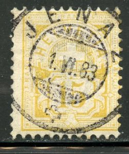 Switzerland # 81, Used. WK182, type II. CV $ 400.00