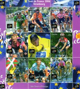 Sao Tome and Principe 2006 Tour de France-Cycling Sheetlet (9) MNH