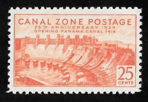 CANAL ZONE 134 25 cents 25th Anniversary Stamp Mint OG NH EGRADED VF-XF 86