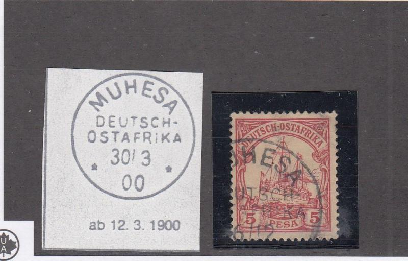 GERMAN EAST AFRICA LOT(KK889) # 13 VF-MUHESA TOWN CANCEL COLLECTED FOR PMKS