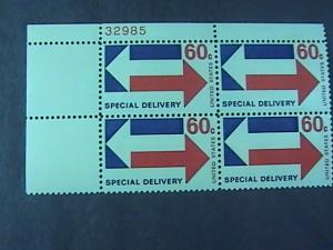 U.S.# E23-MINT/NH-PLATE # BLOCK OF 4--SPECIAL DELIVERY --1971
