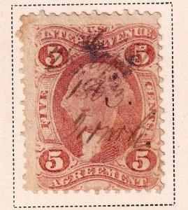 US STAMP #R23c 5c 1862 Revenue Stamp Used