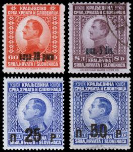 Yugoslavia Scott 27-28, 39-40 (1924-25) Mint/Used H F-VF