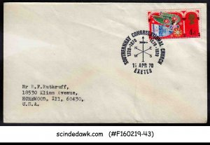 GREAT BRITAIN - 1970 COVER WITH SOUTHERNHAY CONGREGATIONAL CHURCH CANCL.
