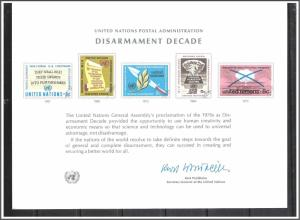 UN New York #SC3 Disarmament Souvenir Card