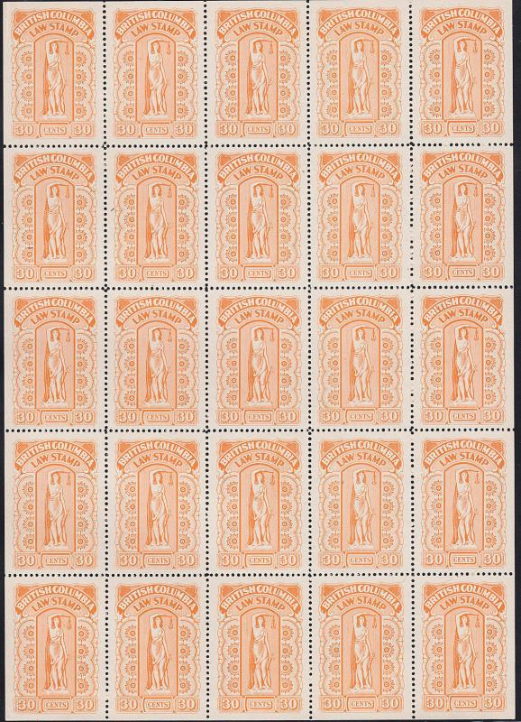BRITISH COLUMBIA BLC38 (Van Dam) FULL SHEET/25 (122018)