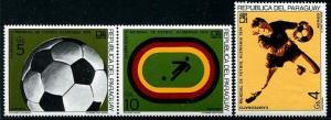 HERRICKSTAMP PARAGUAY Sc.# C379-81 1974 World Cup Soccer FIFA Stamps