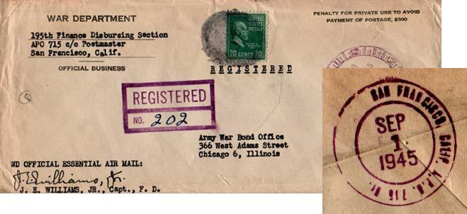 United States A.P.O.'s 1945 Postal History