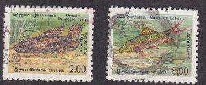 Sri Lanka # 978-979, Fish, Used, 1/3 Cat.
