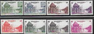Dahomey  Set of 8 stamps African Huts