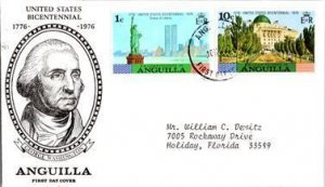 Anguilla, Worldwide First Day Cover, Americana