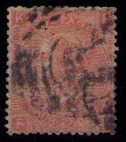 Great Britain Sc  #43a -Used- 1865 - Victoria (P9)- 4p F-VF