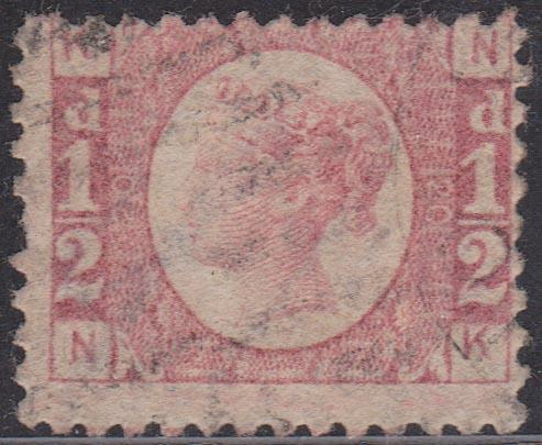 Great Britain -  Scott #58 1/2d QV Plate 20 VG Used