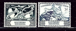 Southern Rhodesia 71-72 MH 1949 UPU    (ap2746)