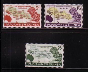 Papua New Guinea Sc167-9 1962 Conference stamps mint NH