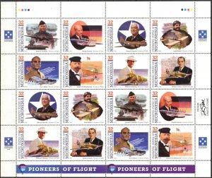 Micronesia 1996 Aviation Pioneers of Flight ( VII set ) Sheet 2 sets MNH
