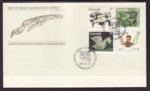 Canada 866-869 Inuits 1980 Canada Post U/A FDC