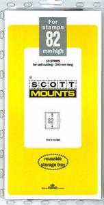 Prinz Scott Stamp Mount 82/240 CLEAR Background Pack of 10