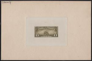 PHILS REVENUE TOBACCO (6) DIFF LARGE DIE PROOFS ON INDIA, SUNK ON CARD WL7342