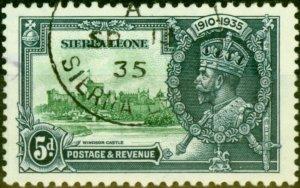 Sierra Leone 1935 5d Jubilee SG183 Very Fine Used
