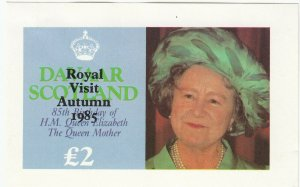 Cinderellas; Davaar, Scotland MNH, 85th Anniv. Of Queen Mother, Royal Visit OVPT