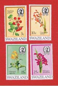 Swaziland #183-186  MNH OG  Flowers   Free S/H