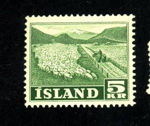 ICELAND 268 MINT FVF OG NH Cat $54