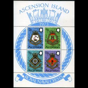 ASCENSION 1973 - Scott# 169a S/S Naval Arms NH