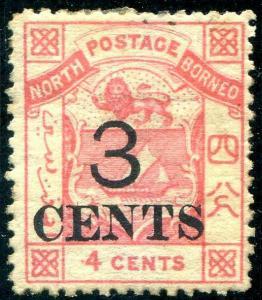 HERRICKSTAMP NORTH BORNEO Sc.# 15 Mint Hinged Scott Retail $130.00