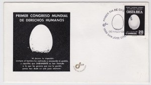 Costa Rica 1st World Congress of Human Rights Sc 279 FDC 1983