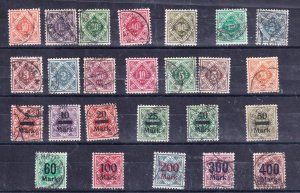 GERMANY STAMP USED STMAPS COLLECTON LOT  #2