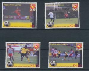PAPUA NEW GUINEA PNG 2004 SOCCER FIFA MNH SET (4 Stamps)(PAP28)