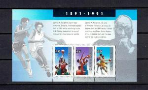CANADA - 1991 BASKETBALL SOUVENIR SHEET - SCOTT 1344 - MNH