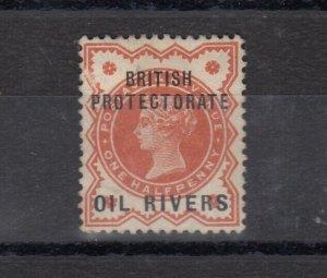 Oil Rivers Nigeria QV 1892 1/2d O/P SG1 MLH J8426