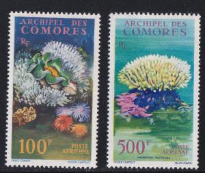 Comoros Isl. # C5-6, Coral, Shells, Mint H, 1/3 Cat