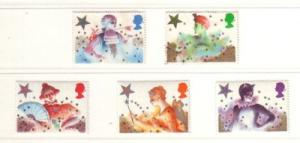 Great Britain Sc 1124-8 1985 Christmas stamps NH