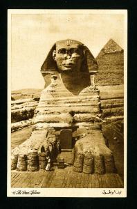 Egypt Card Early Scarce of Pyramid 1930's XF Scarce card