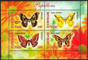 Chad 2013 Butterflies (3) MNH Cinderella !