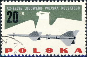 POLAND / POLEN - 1963 Mi.1425 20gr 20yrs People's Army - VF Used (a)