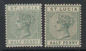 St. Lucia, Scott 27-27a (SG 31, 43), MNH/HR