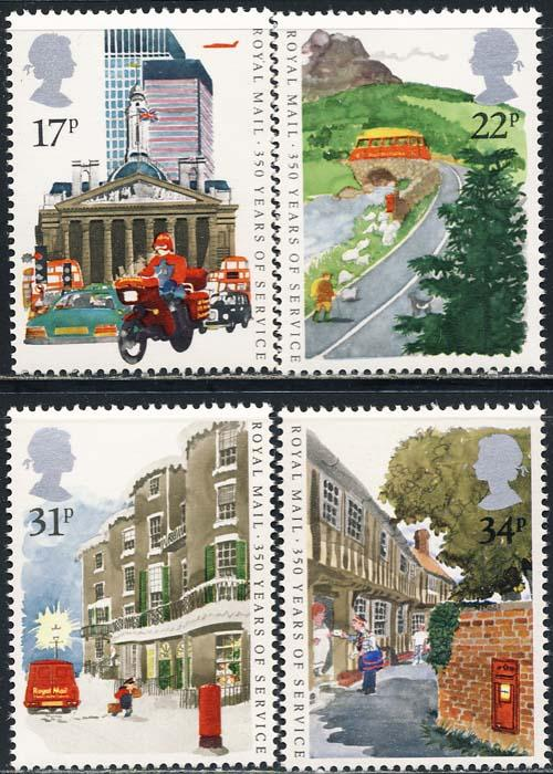 Great Britain 1985 Sc 1111-4 Royal Mail Service Stamp MNH