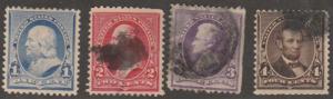 U.S. Scott #219-223 Stamp - Used Single