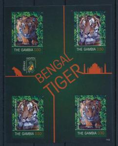 [32064] Gambia 2011 Wild Animals Mammals Bengal Tiger MNH Sheet