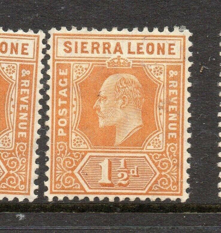 Sierra Leone 1907-10 Early Issue Fine Mint Hinged 1.5d. 303546