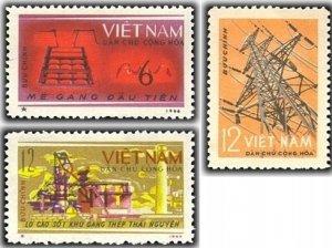 Vietnam 1964 MNH Stamps Scott 286-288 Electricity Ironworks Industry