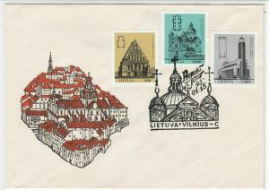 Lithuania 1993 Town Picture Different buildings Stamps FDC Cover Ref 29611